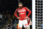 Lukas Nmecha (20) of Middlesbrough during the EFL Sky Bet Championship match between Fulham and Middlesbrough at Craven Cottage, London, England on 17 January 2020.