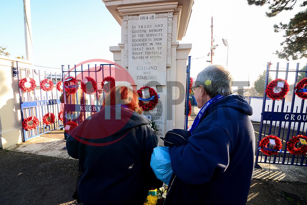 Memorial gates at the memorial stadium - Mandatory by-line: Dougie Allward/JMP - 17/11/2018 - FOOTBALL - Memorial Stadium - Bristol, England - Bristol Rovers v Scunthorpe United - Sky Bet League One
