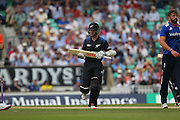 New Zealand Kane Williamson gets his 50 during the Royal London One Day International match between England and New Zealand at the Oval, London, United Kingdom on 12 June 2015. Photo by Phil Duncan.