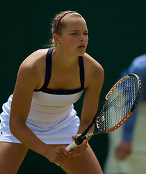 LONDON, ENGLAND - Monday, June 30, 2008: Romana Tabakova (SVK) during her 1st round girls' singles victory on day seven of the Wimbledon Lawn Tennis Championships at the All England Lawn Tennis and Croquet Club. (Photo by David Rawcliffe/Propaganda)