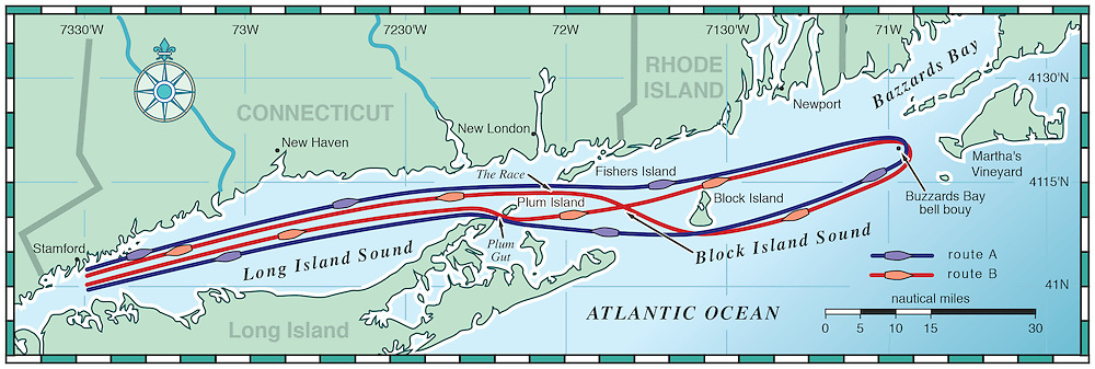 Vector map of Long Island Sound