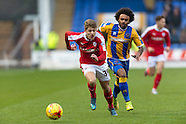 Shrewsbury Town v Barnsley - League 1 - 16/01/2016