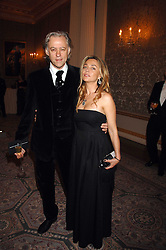 SIR BOB GELDOF and JEANNE MARINE at the Ark 2007 charity gala at Marlborough House, Pall Mall, London SW1 on 11th May 2007.<br />