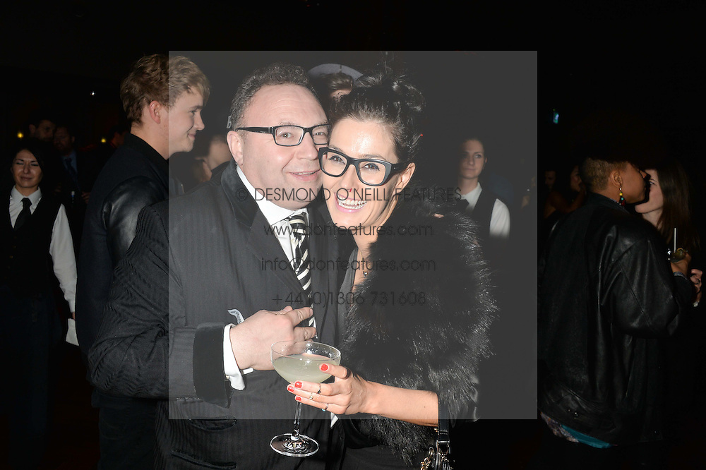 JONATHAN SHALIT and JULIA JEORY at the Universal Bacardi Brits' After Party At Soho House Pop-Up, 8 Victoria Embankment, London on 19th February 2014.