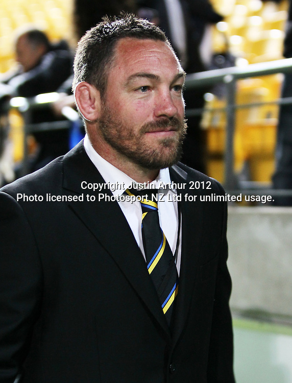Hurricanes' Head Coach Mark Hammett during the 2012 Super Rugby season, Hurricanes v Highlanders at Westpac Stadium, Wellington, New Zealand on Saturday 17 March 2012. Photo: Justin Arthur / Photosport.co.nz