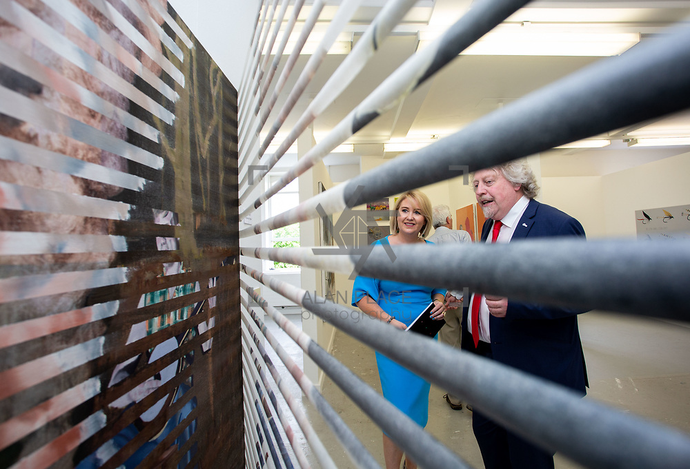 03.06.2018.        <br /> An In-FLUX of visitors attended LSAD, Limerick School of Art and Design for one of Ireland&rsquo;s largest and most vibrant Graduate Shows.<br /> <br /> Pictured at the event were, Chief Executive of the Design &amp; Crafts Council of Ireland, Karen Hennessy who officially opened the Flux Exhibition with Mike Fitzpatrick Dean, Limerick School of Art &amp; Design and Director Cultural Engagement.<br /> <br /> More than 200 Fine Art and Design students&rsquo; work went on display from June 2 to June 10, 2018 at the LSAD Graduate Show - FLUX.<br /> LSAD has been central to Art, Craft and Design in the Limerick and Midwest region since 1852.<br />  <br /> The concept, branding and overall design of the 2018 LSAD Graduate Show - FLUX &ndash; is student led, and begins this Saturday June 2 and runs until June 10, 2018.<br />  <br /> FLUX encapsulates the movement and change from student to graduate. &ldquo;The &ldquo;X&rdquo; in &ldquo;FLUX&rdquo; represents the students and how they have made their mark in their time at college,&rdquo; explains designers Cathy Hogan and Will Harte as they outline the thinking behind the concept.<br />  <br /> FLUX describes the dynamic movement in the Limerick city region as it overcomes significant issues to become a fulcrum of rejuvenation, vibrant culture, strong industry growth and a centre of design.<br />  <br /> LSAD is also in a state of FLUX as it develops its enterprise potential and engagement with stakeholders across industry, public bodies, third level institutions and other partners overseeing a shift towards design, creativity and connectivity that goes far beyond the walls of its main campus on Clare Street. Picture: Alan Place