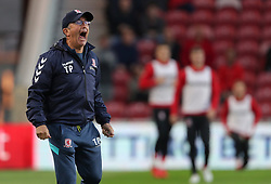 Middlesbrough manager Tony Pulis gestures on the touchline during the Sky Bet Championship match at the Riverside Stadium, Middlesbrough.