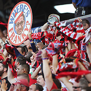 New York Red Bulls fans during the New York Red Bulls Vs NYCFC, MLS regular season match at Red Bull Arena, Harrison, New Jersey. USA. 10th May 2015. Photo Tim Clayton