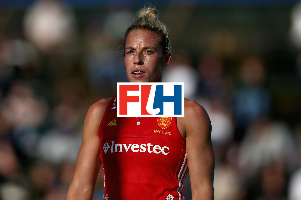 JOHANNESBURG, SOUTH AFRICA - JULY 18: Susannah Townsend of England looks on during the Quarter Final match between England and India during the FIH Hockey World League - Women's Semi Finals on July 18, 2017 in Johannesburg, South Africa.  (Photo by Jan Kruger/Getty Images for FIH)