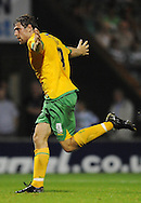 Yeovil - Tuesday, August 11th, 2009: Grant Holt of Norwich City celebrates his 3rd goal during the Carling Cup 1st Round match at Yeovil. (Pic by Alex Broadway/Focus Images)