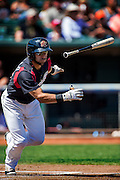 Sacramento River Cats second baseman Ali Castillo (49) runs to base on his triple in the first inning as the River Cats play their final game of the season against the Fresno Grizzlies at Raley Field, Monday Sep 5, 2016.<br /> photo by Brian Baer