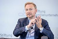 28 JUN 2019, BERLIN/GERMANY:<br /> Christian Lindner, FDP Bundesvorsitzender, waehrend einer Diskussion, Tag des Deutschen Familienunternehmens, Hotel Adlon<br /> IMAGE: 20190628-01-197