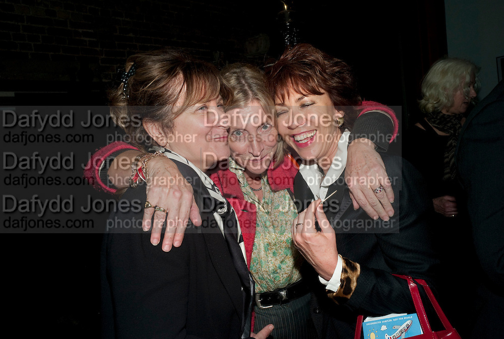 BARONESS HELENA KENNEDY; ROSIE BOYCOTT; KATHY LETTE, Gala performance of  RUBY WAX- LOSING IT  in aid of  Comic Relief. Menier Theatre. London. 23 February 2011. -DO NOT ARCHIVE-© Copyright Photograph by Dafydd Jones. 248 Clapham Rd. London SW9 0PZ. Tel 0207 820 0771. www.dafjones.com.