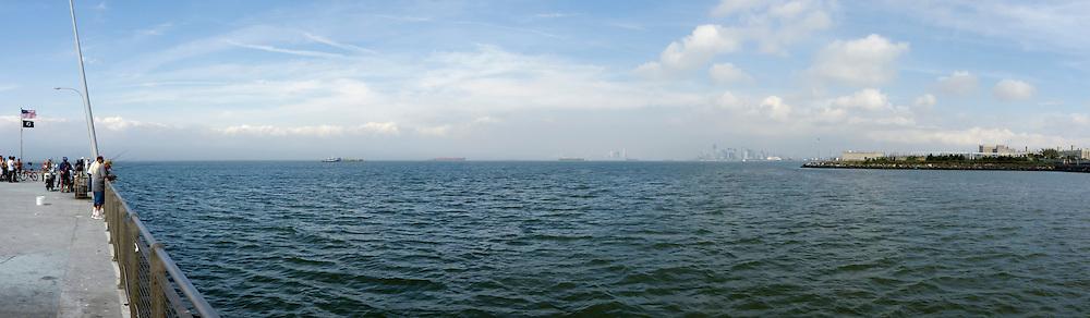 Panorama of New York Bay.
