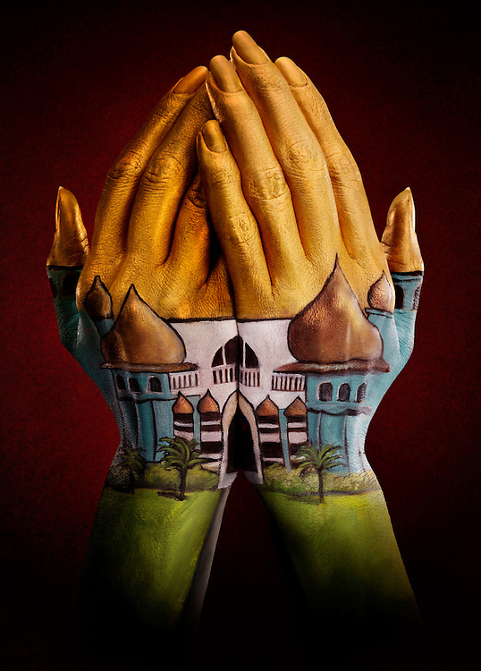 Hands Painted to look like a mosque