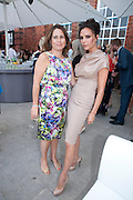 ALEXANDRA SHULAMN; VICTORIA BECKHAM;, Alexandra Shulman, Editor of Vogue & Phil Popham, Managing Director of Land Rover<br /> host the 40th Anniversary of Range Rover. The Orangery at Kensington Palace. London. 1 July 2010. -DO NOT ARCHIVE-© Copyright Photograph by Dafydd Jones. 248 Clapham Rd. London SW9 0PZ. Tel 0207 820 0771. www.dafjones.com.