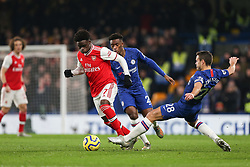 Bukayo Saka of Arsenal evades a tackle from Callum Hudson-Odoi of Chelsea - Mandatory by-line: Arron Gent/JMP - 21/01/2020 - FOOTBALL - Stamford Bridge - London, England - Chelsea v Arsenal - Premier League