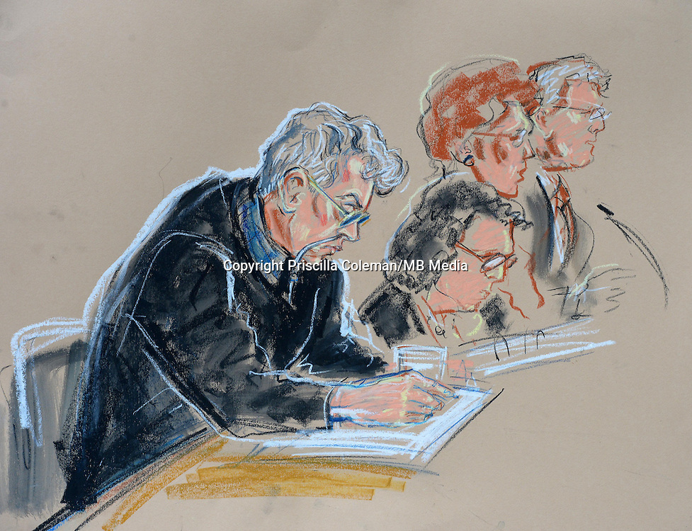 Ian Brady court drawing<br />