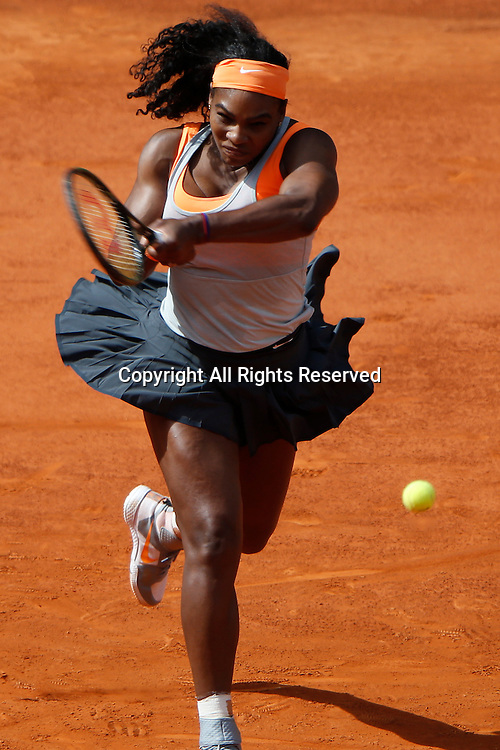 06.05.2015. Madrid, Spain, WTA Madrid Open Tennis Tournament. Match played between Serena WILLIAMS (USA) and Victoria AZARENKA (BLR)  Serena WILLIAMS during match.