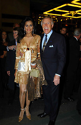 BRUCE FORSYTH and his wife WILNELIA at the opening night of the musical Murderous Instincts at The Savoy Theatre, London on 7th October 2004.<br />