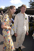 tory Cook and Simon Hancock, Goodwood Revival Meeting. Saturday 17 September 2005.  ONE TIME USE ONLY - DO NOT ARCHIVE  © Copyright Photograph by Dafydd Jones 66 Stockwell Park Rd. London SW9 0DA Tel 020 7733 0108 www.dafjones.com