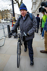 © Licensed to London News Pictures. 08/03/2016. London, UK. Mayor of London BORIS JOHNSON leaving Downing Street after a cabinet meeting on Tuesday, 8 March 2016. Photo credit: Tolga Akmen/LNP