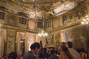 Okwui Enwezor and Vinyl Facorty hosted party at Ca'Sagredo, Campo Santa Sofia Venice Biennale, Venice. 5 May 2015