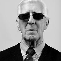 Archibald_Morton, RAF Regiment, 1950-1952, Gunner.  Archibald is registered blind and is a regular visitor to the Scottish War Blinded centre, Veterans Portrait Project UK, Edinburgh, Scotland