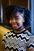 Jentarria Bey poses for a portrait during the Black Excellence Youth Conference at the Best Western Plus Inntowner on Monday, Jan. 15, 2018.