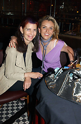 Left to right, NATHALIE HAMBRO and PAULA WHITE-CORREAL at a party to promote the Kiss It Better campaign for the Great Ormond Street Hospital in association with Stila and Space.NK held at Frankie's, Yeoman's Row, London on 31st May 2005.<br />