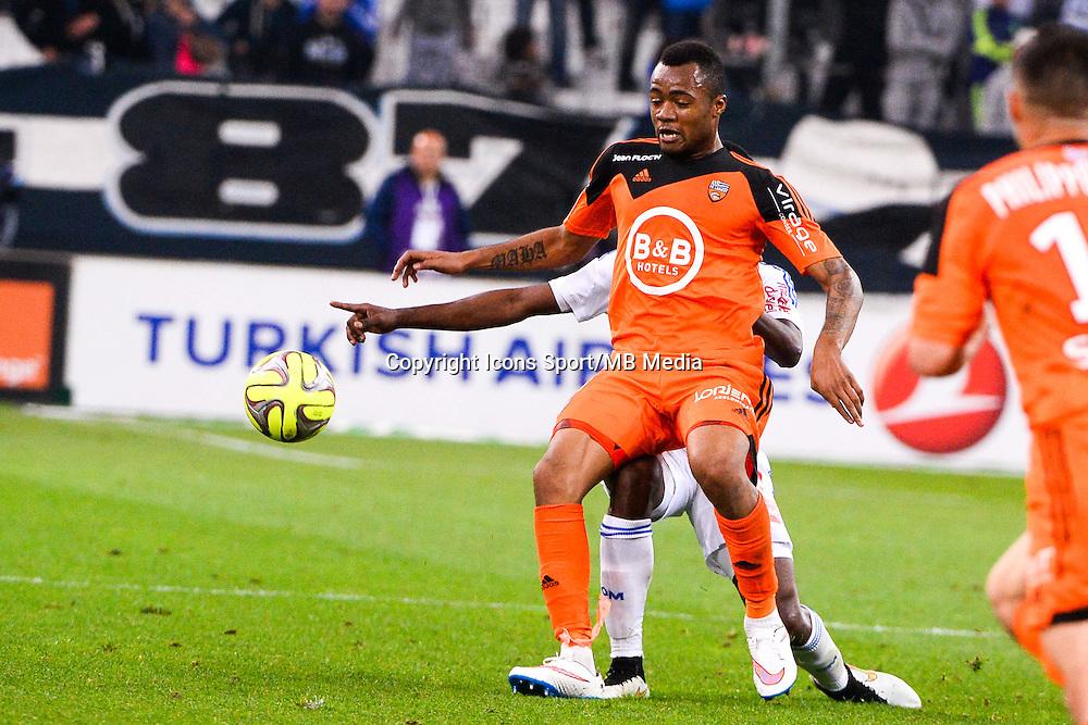 Jordan AYEW - 24.04.2015 - Marseille / Lorient - 34eme journee de Ligue 1<br />Photo : Gaston Petrelli / Icon Sport