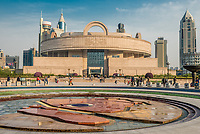 Shanghai, China - April 7, 2013: Shanghai museum on people square at the city of Shanghai in China on april 7th, 2013