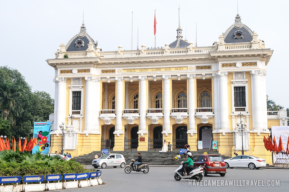 Hanoi's Opera House, in French colonial style, in the Hoan Kiem district of Hanoi, Vietnam.