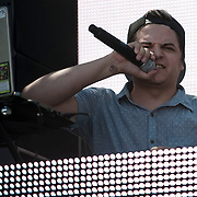May 17, 2013 - Queens, NY :  The DJ Luminox performs during the first day of the 2013 New York 'Electric Daisy Carnival,' an electronic dance music festival, at Citi Field in Queens, on Friday. CREDIT: Karsten Moran for The New York Times CREDIT: Karsten Moran for The New York Times