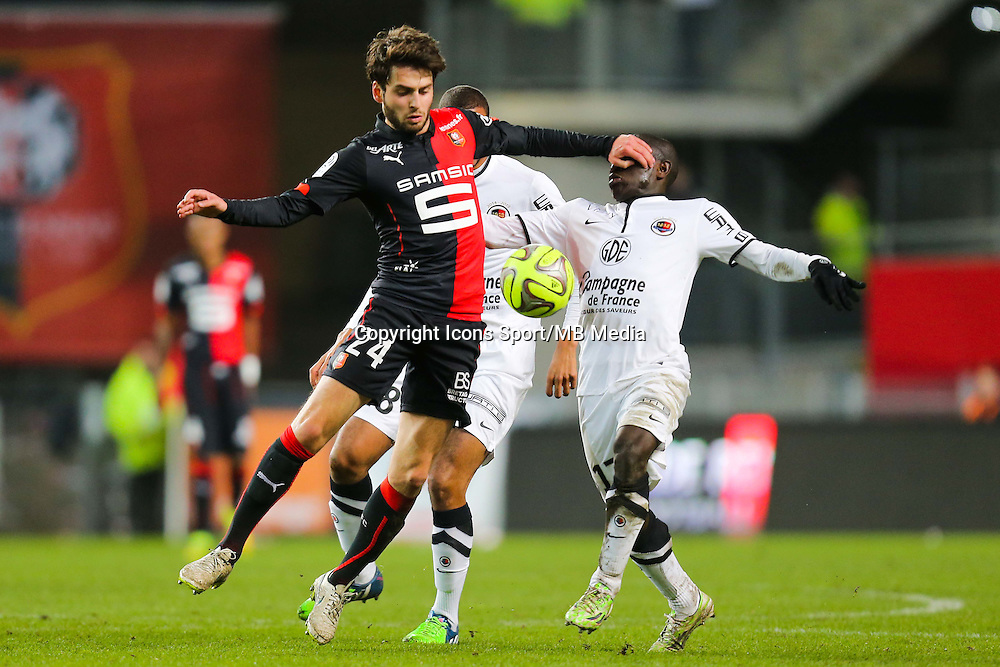 Sanjin PRCIC / Ngolo KANTE  - 25.01.2015 - Rennes / Caen  - 22eme journee de Ligue1<br /> Photo : Vincent Michel / Icon Sport *** Local Caption ***