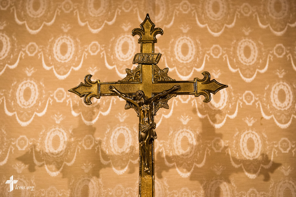 The crucifix on the altar at Shepherd of the City Lutheran Church, a church plant and focus of Philadelphia Lutheran Ministries, on Monday, Nov. 2, 2015, in Philadelphia.  LCMS Communications/Erik M. Lunsford