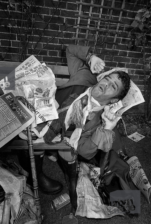 Ian Dury on London park bench