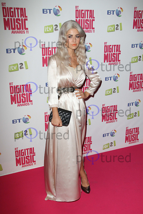 Marina Diamandis BT Digital Music Awards, Roundhouse, Camden, London, UK. 29 September 2011 Contact: Rich@Piqtured.com +44(0)7941 079620 (Picture by Richard Goldschmidt)