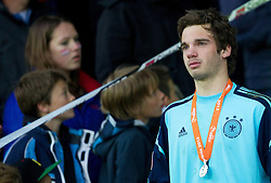 Oliver Schnitzler of Germany at medal ceremony after the UEFA European Under-17 Championship Final match between Germany and Netherlands on May 16, 2012 in SRC Stozice, Ljubljana, Slovenia. Netherlands defeated Germany after penalty shots and became European Under-17 Champion 2012. (Photo by Vid Ponikvar / Sportida.com)