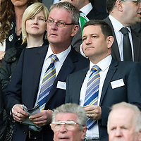 Celtic v St Johnstone....01.04.12   SPL<br /> St Johnstone Chairman Steve Brown and director Stan Harris<br /> Picture by Graeme Hart.<br /> Copyright Perthshire Picture Agency<br /> Tel: 01738 623350  Mobile: 07990 594431