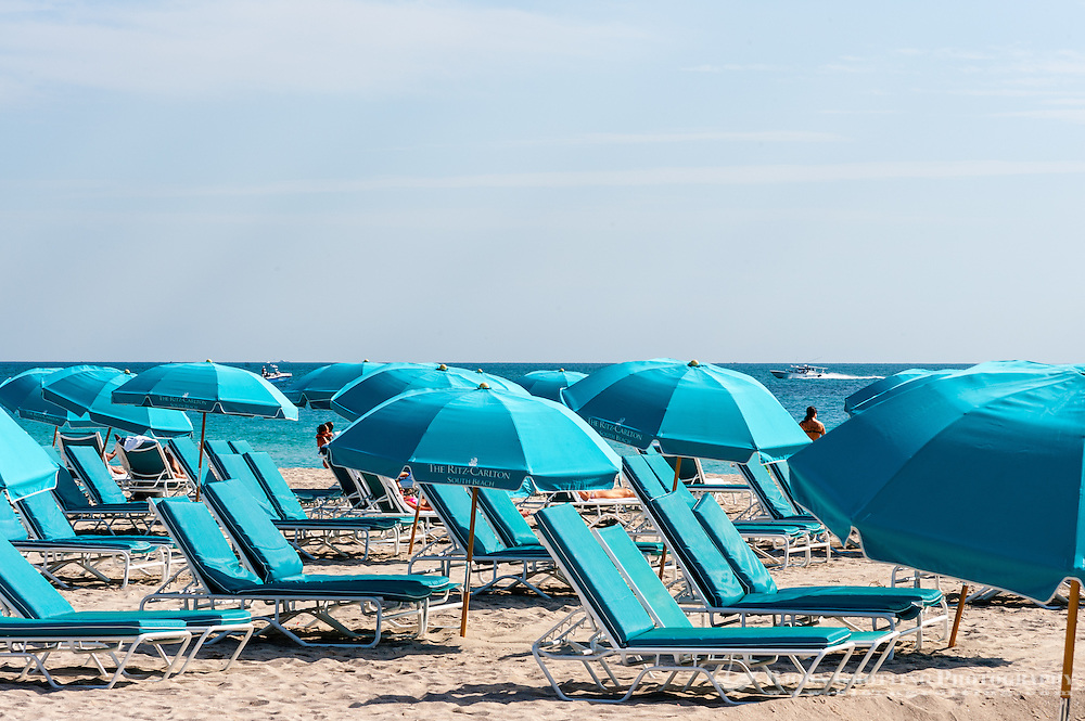 US, Florida, Miami Beach. The famous beach.