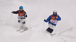 Korea's Joon Myung Seo (right) in the Men's Moguls Final Qualification during day three of the PyeongChang 2018 Winter Olympic Games in South Korea.