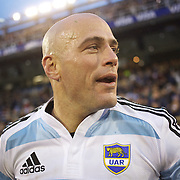 Felipe Contepomi, Argentina, after his man of the match performance during the Argentina V France test match at Estadio Jose Amalfitani, Buenos Aires,  Argentina. 26th June 2010. Photo Tim Clayton...