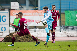 Rok Grudina of ND Gorica during football match between NK Triglav Kranj and ND Gorica in Round #24 of Prva Liga Telekom Slovenije 2017/18, on March 18, 2018 in Sportni park Kranj, Kranj, Slovenia. Photo by Ziga Zupan / Sportida