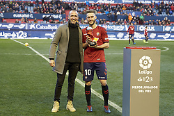 February 3, 2019 - Pamplona, Spain - Roberto Torres (midfield; CA Osasuna) and Patxi Puñal are seen before the Spanish football of La Liga 123, match between CA Osasuna and  Granada CF at the Sadar stadium, in Pamplona (Navarra), Spain. (Credit Image: © Fernando Pidal/SOPA Images via ZUMA Wire)