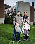 Famiglia Manni, lavoratori dell'AST da 3 generazioni..Manni's family, 3 generations AST workers .In the Picture Leonardo Manni, Lorenzo Manni, Claudia Madolini.ph. Stefano Meluni
