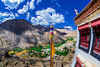 View from the Lamayuru Monastery, Ladakh, Jammu and Kashmir State, India.