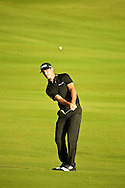 January 09 2015:  Billy Herschel chips onto the eighteenth green during the First Round of the Hyundai Tournament of Champions at Kapalua Plantation Course on Maui, HI.