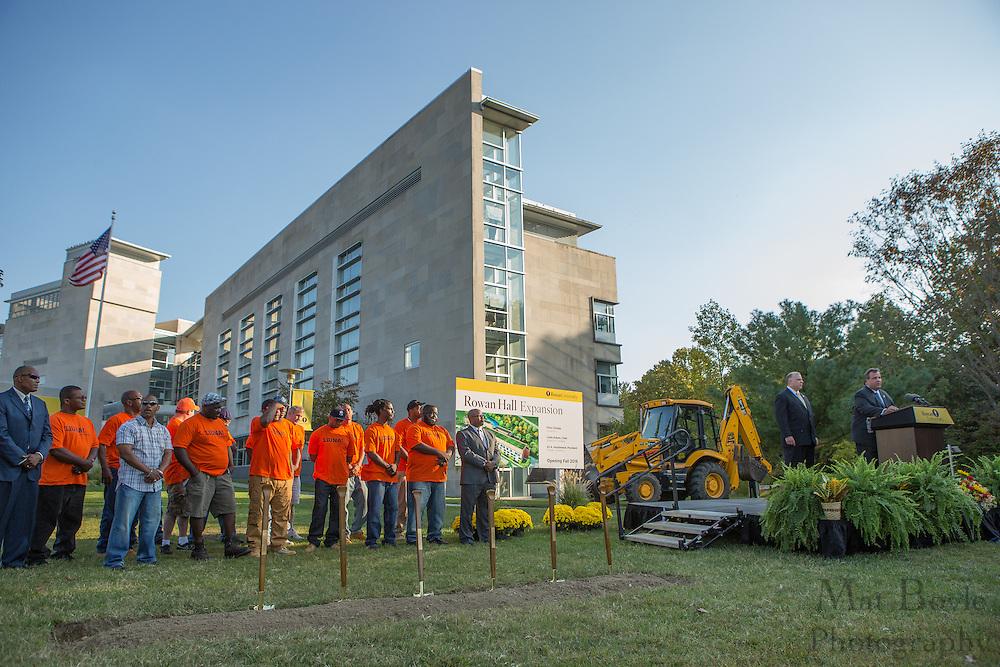 NJ Governor Chris Christie speaks at the Rowan Hall Expansion Groundbreaking at Rowan University  in Glassboro, NJ on Wednesday October 2, 2013. (photo / Mat Boyle)