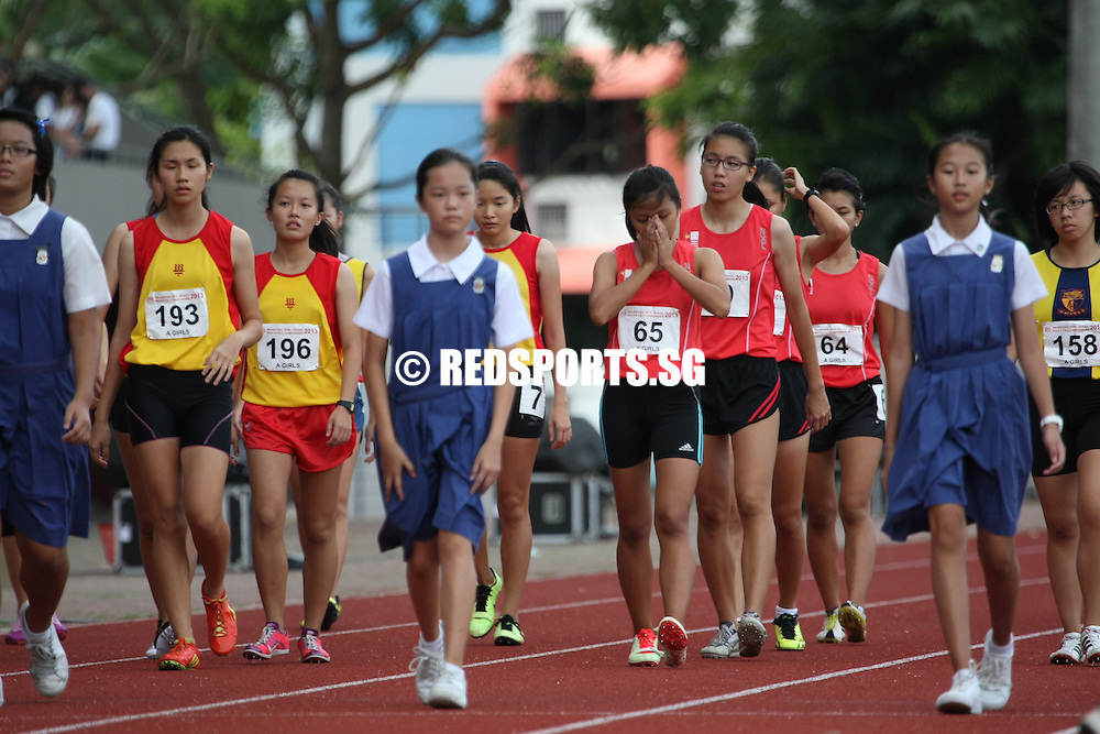 Choa Chu Kang Sports Complex, Wednesday, April 17, 2013 &mdash; Hwa Chong Institution (HCI) won the A Division girls&rsquo; 4&times;400 metres relay gold by a whisker at the 54th National Schools Track and Field Championships while Singapore Sports School swept both the C and B Division girls&rsquo; 4x400m relay finals.<br />